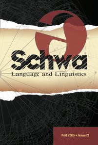 Schwa: Language and Linguistics, issue 13 (December 2015)