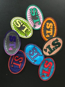 ST4 badges, all colored in